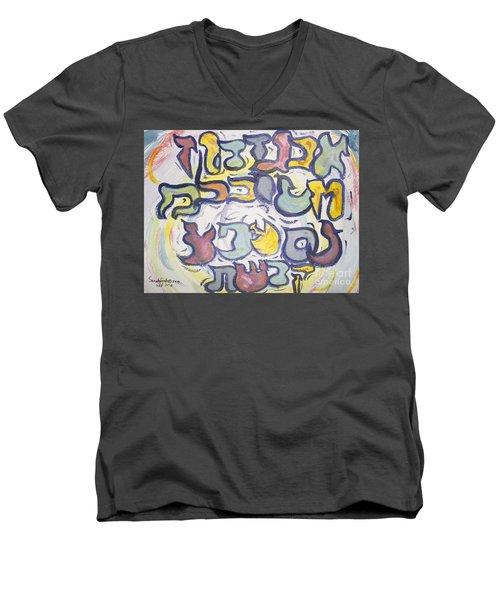 Funnzie Letters Men's V-Neck T-Shirt