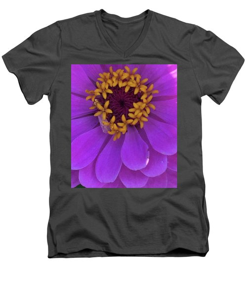 Fuschia Zinnia Men's V-Neck T-Shirt