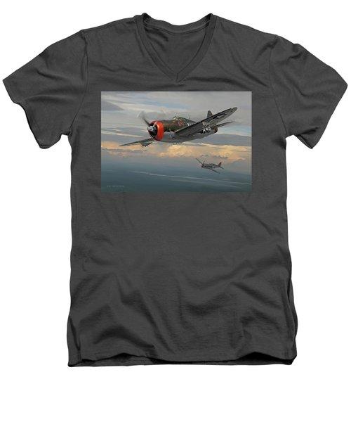 Gabby's Razorback Men's V-Neck T-Shirt