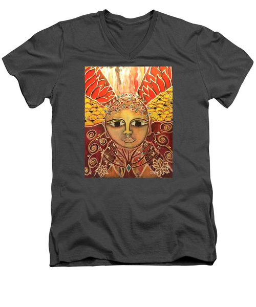 Gaia - Mother Earth  Men's V-Neck T-Shirt