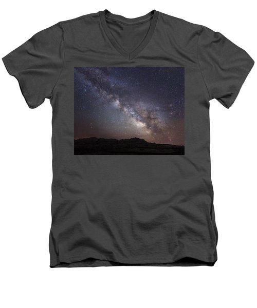 Galactic Light On Badlands National Park Men's V-Neck T-Shirt