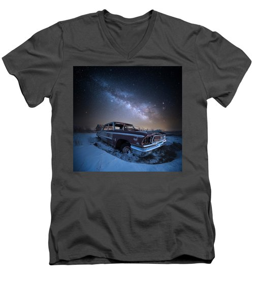 Men's V-Neck T-Shirt featuring the photograph Galaxie 500 by Aaron J Groen