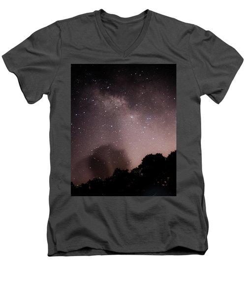 Galaxy Beams Me Men's V-Neck T-Shirt by Carolina Liechtenstein