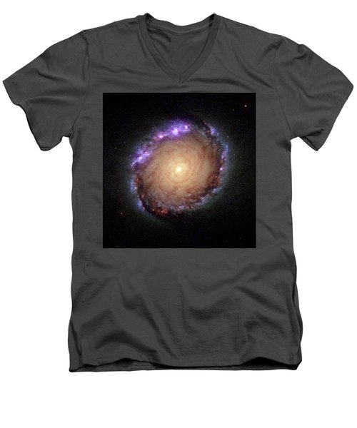 Galaxy Ngc 1512 Men's V-Neck T-Shirt by Hubble Space Telescope