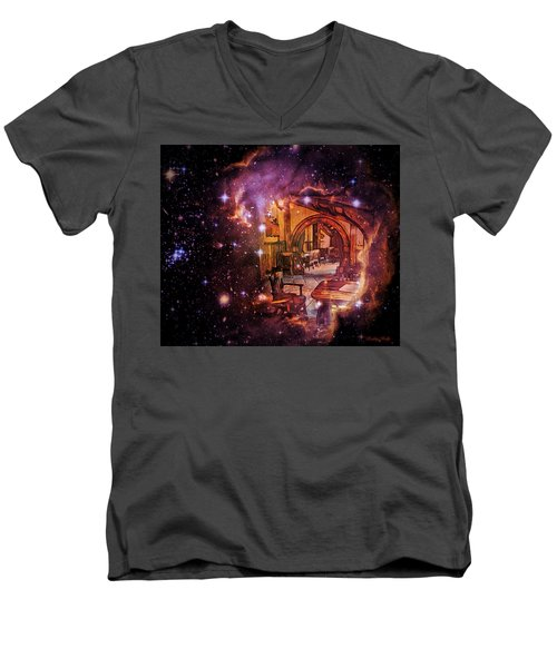 Galaxy Quest Men's V-Neck T-Shirt by Kathy Kelly