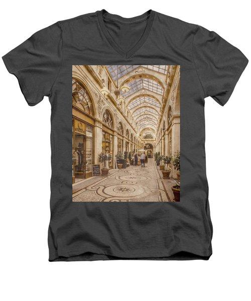 Paris, France - Galerie Vivienne Men's V-Neck T-Shirt