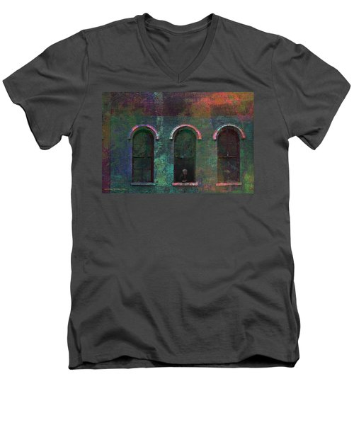 Galesburg Windows 1 Men's V-Neck T-Shirt