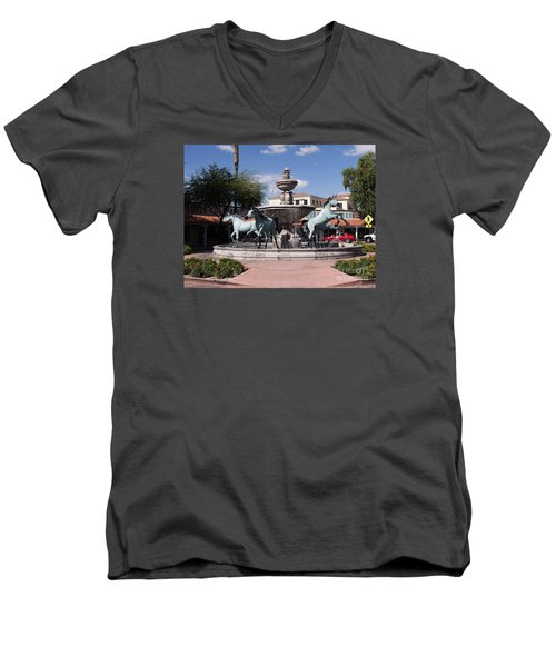 Horses With Vitality And Charm Men's V-Neck T-Shirt