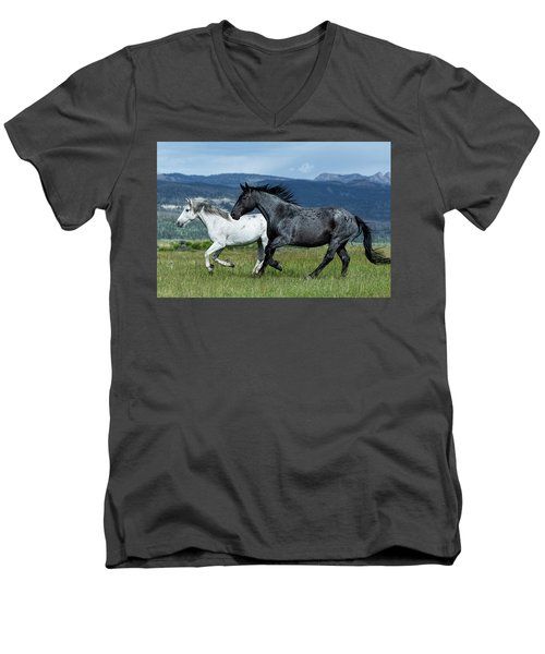 Galloping Through The Scenery Men's V-Neck T-Shirt