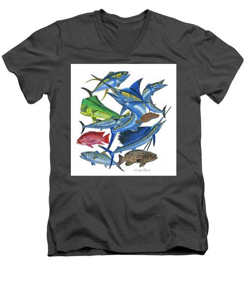Gamefish Collage Men's V-Neck T-Shirt