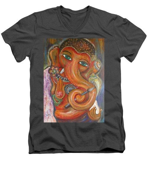 Ganesha My Muse Men's V-Neck T-Shirt