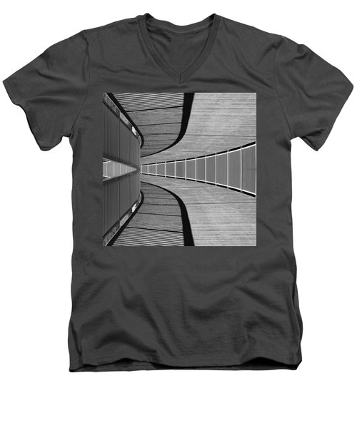 Men's V-Neck T-Shirt featuring the photograph Gangway by Chevy Fleet