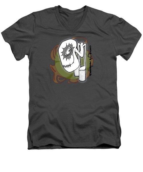 Ganix Men's V-Neck T-Shirt by Uncle J's Monsters
