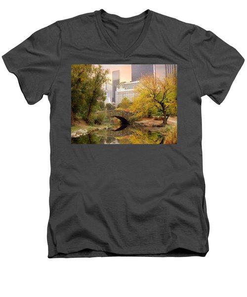 Gapstow Bridge Reflections Men's V-Neck T-Shirt