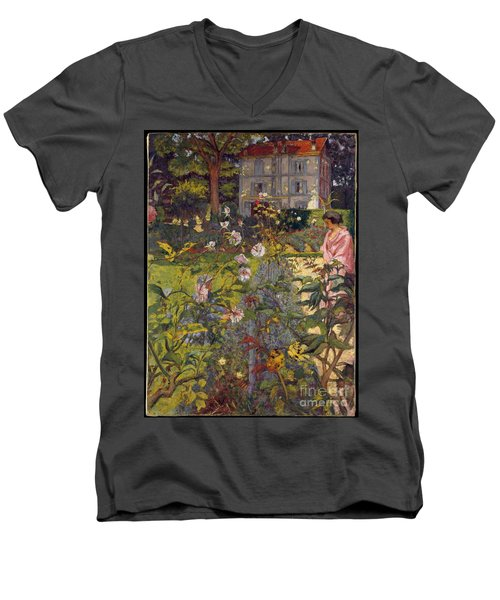 Garden At Vaucresson Men's V-Neck T-Shirt