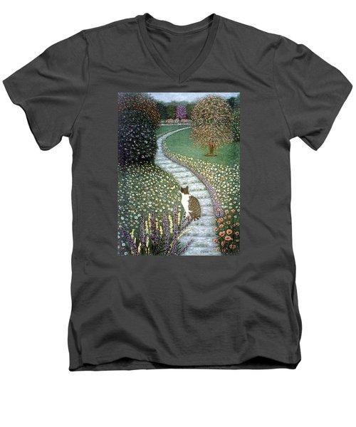 Garden Delights II Men's V-Neck T-Shirt