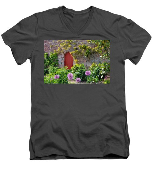 Garden Door - Paint With Canvas Texture Men's V-Neck T-Shirt