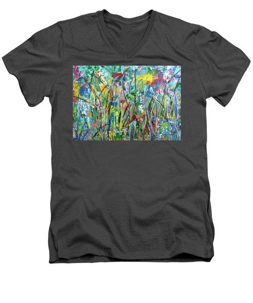 Garden Flourish Men's V-Neck T-Shirt