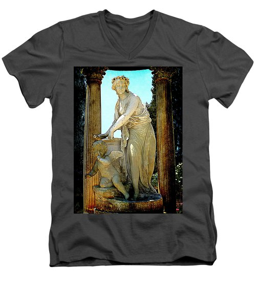 Men's V-Neck T-Shirt featuring the photograph Garden Goddess by Lori Seaman