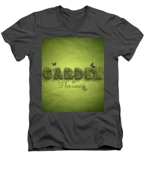 Garden Men's V-Neck T-Shirt by La Reve Design