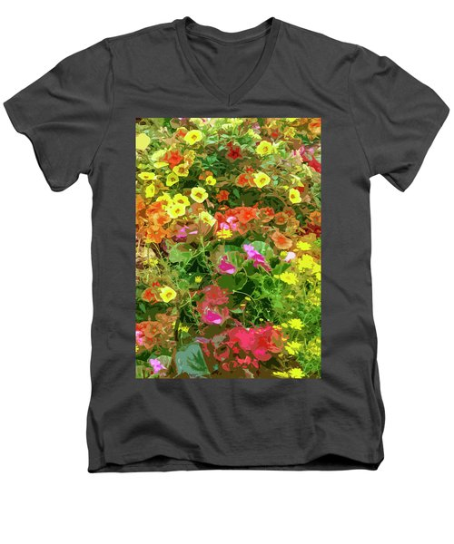 Garden Of Color Men's V-Neck T-Shirt by Josy Cue