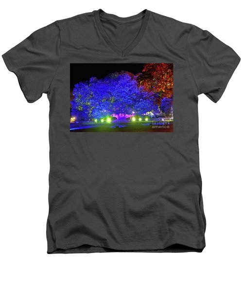 Men's V-Neck T-Shirt featuring the photograph Garden Of Light By Kaye Menner by Kaye Menner