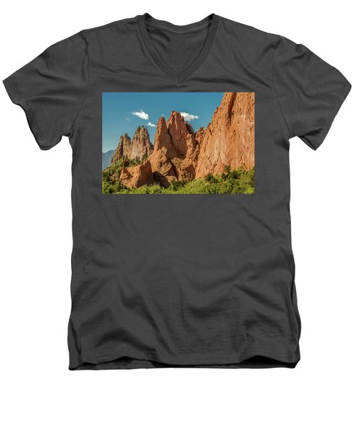 Men's V-Neck T-Shirt featuring the photograph Garden Of The Gods by Bill Gallagher