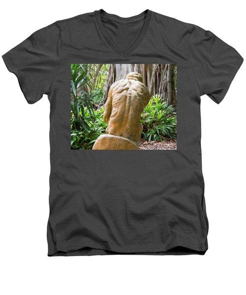 Garden Sculpture 1 Men's V-Neck T-Shirt