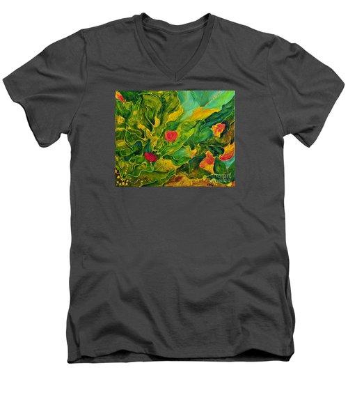 Garden Series Men's V-Neck T-Shirt by Teresa Wegrzyn