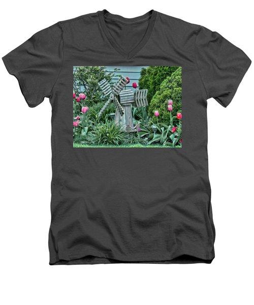 Garden Windmill Men's V-Neck T-Shirt
