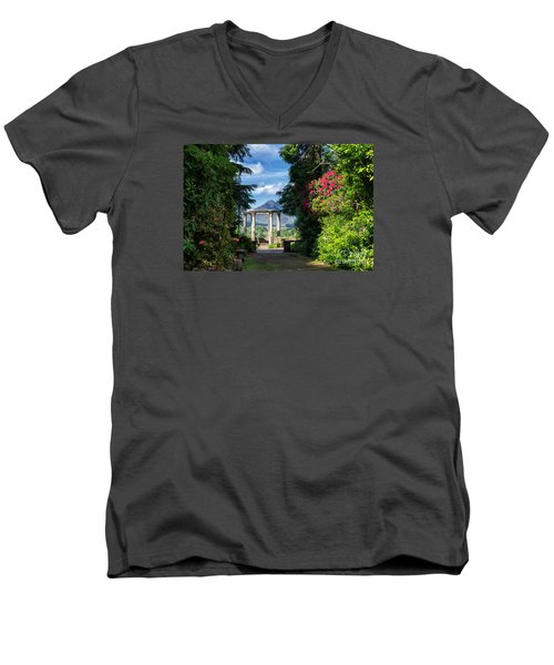 Men's V-Neck T-Shirt featuring the photograph Garinish Island by Juergen Klust
