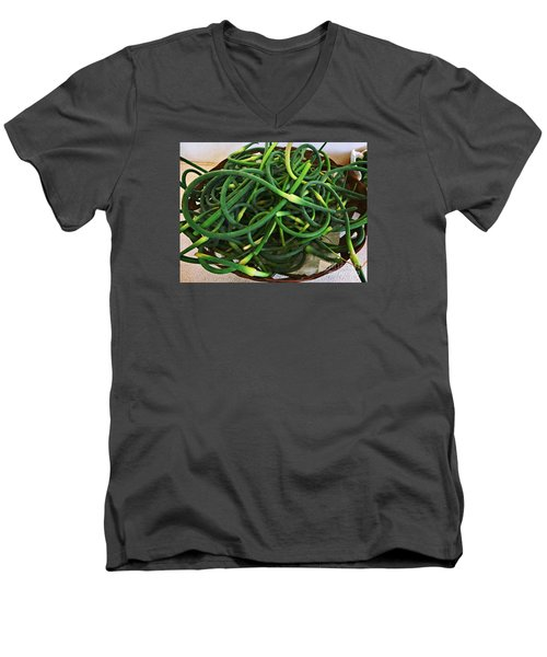 Garlic Stems Men's V-Neck T-Shirt