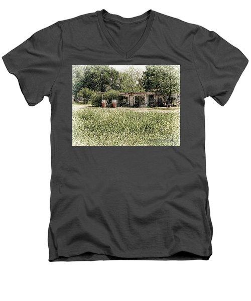 Gas 25 Cents Men's V-Neck T-Shirt