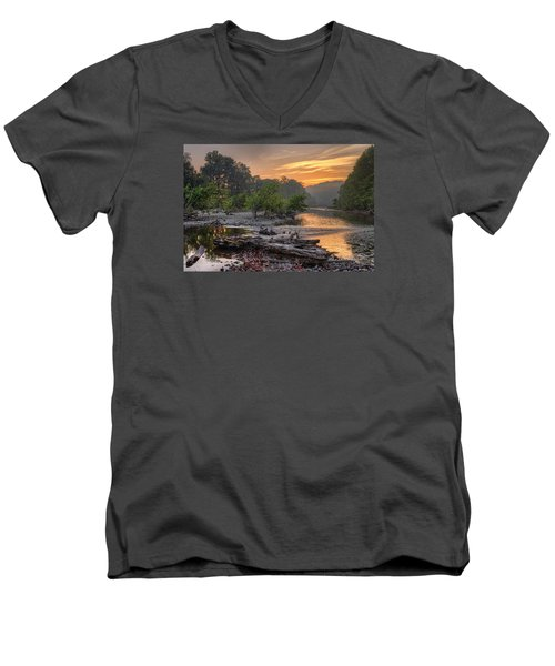 Gasconade River Men's V-Neck T-Shirt by Robert Charity