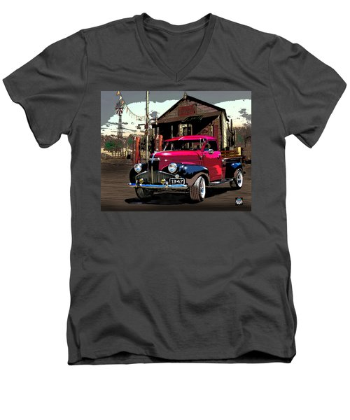 Gassed Up And Ready Men's V-Neck T-Shirt