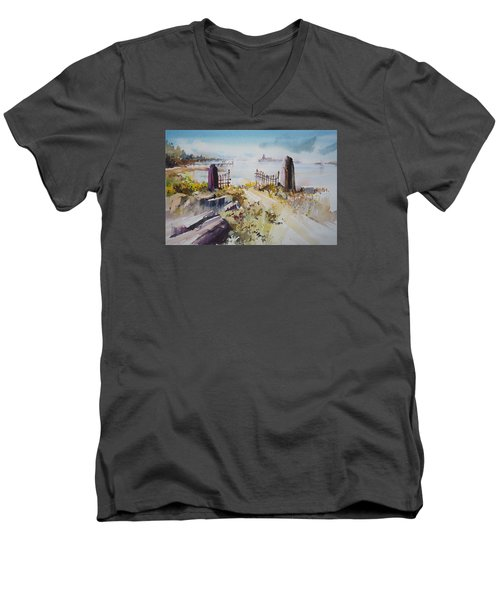 Gated Shore Men's V-Neck T-Shirt by P Anthony Visco