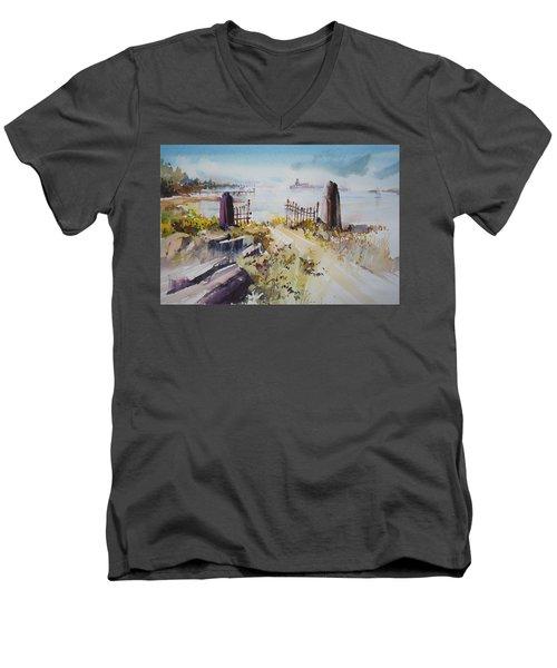 Gated Shore Men's V-Neck T-Shirt
