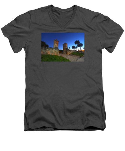 Gates Of The City Men's V-Neck T-Shirt by Robert Och