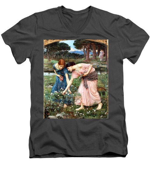 Gather Ye Rosebuds While Ye May Men's V-Neck T-Shirt