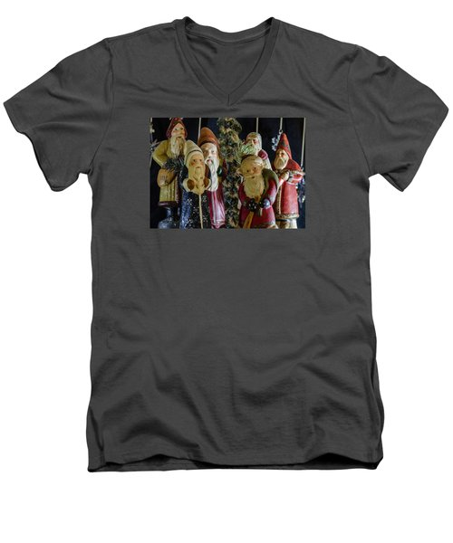 Gathering Of Father Christmas Men's V-Neck T-Shirt
