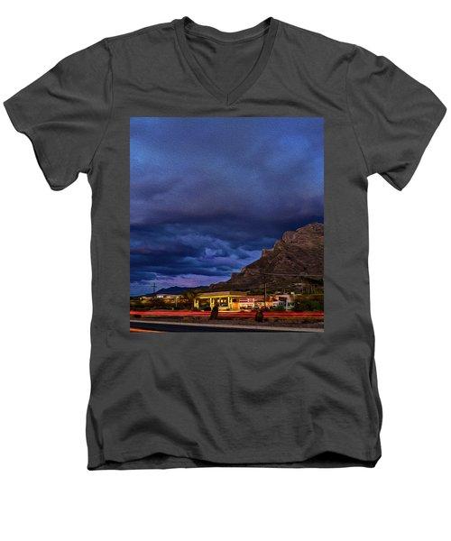 Gathering Storm Op51 Men's V-Neck T-Shirt by Mark Myhaver