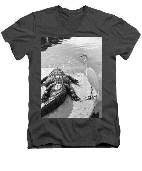Gator Hand Men's V-Neck T-Shirt by Josy Cue