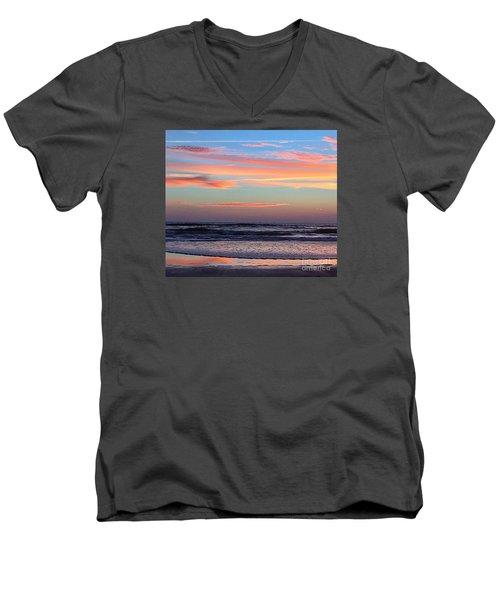 Gator Sunrise 10.31.15 Men's V-Neck T-Shirt by LeeAnn Kendall