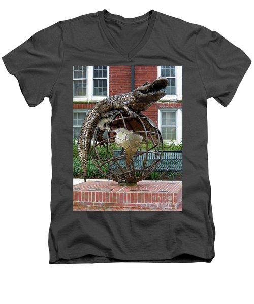 Gator Ubiquity Men's V-Neck T-Shirt by D Hackett