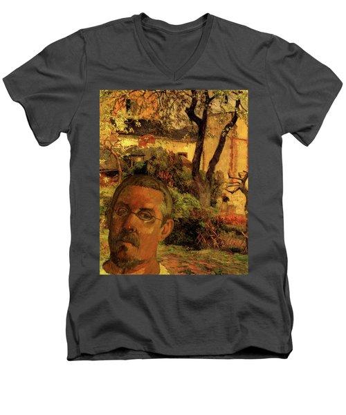 Gauguin Study In Orange Men's V-Neck T-Shirt