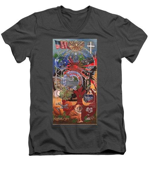 Gavin 40 Men's V-Neck T-Shirt