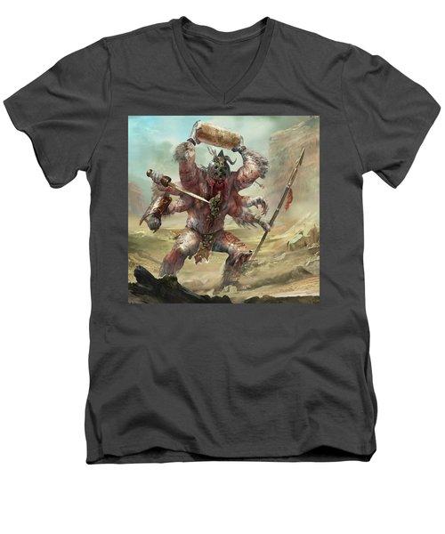Gegenees Giant Men's V-Neck T-Shirt