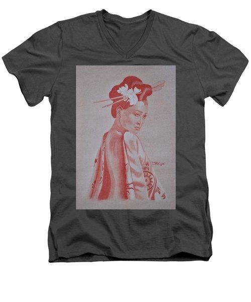 Geisha Men's V-Neck T-Shirt