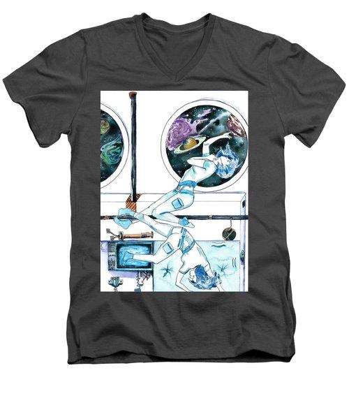 Gemini Journey Pollux Pleads Men's V-Neck T-Shirt by D Renee Wilson