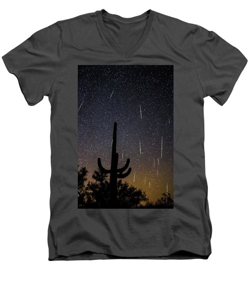 Geminid Meteor Shower #2, 2017 Men's V-Neck T-Shirt